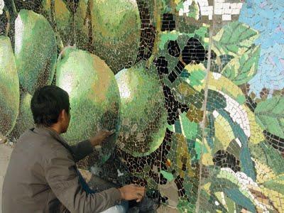 Sản phẩm tranh ghép gốm sứ Bát Tràng